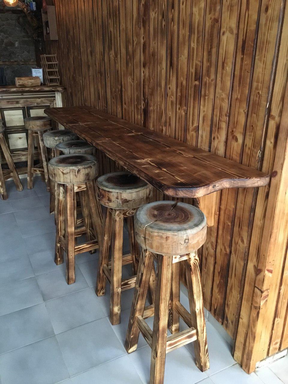 Обгорени Дървени мебели по поръчка за интериор