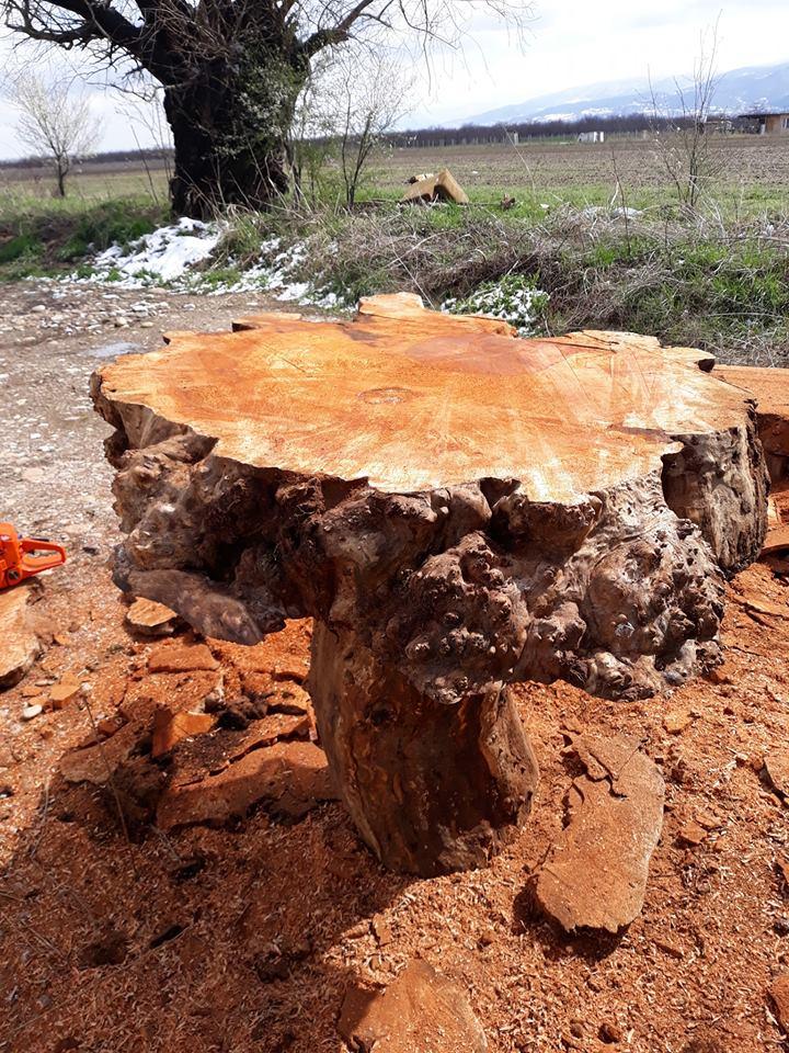 Дънер от дърво за плот за маса
