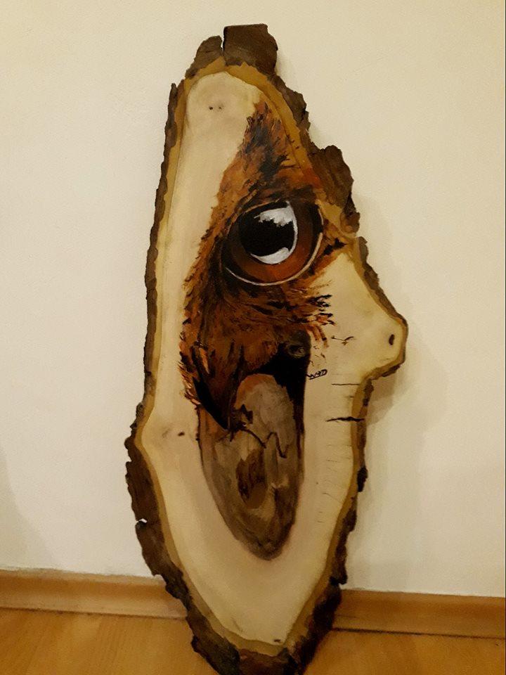 Декорация картина от дърво
